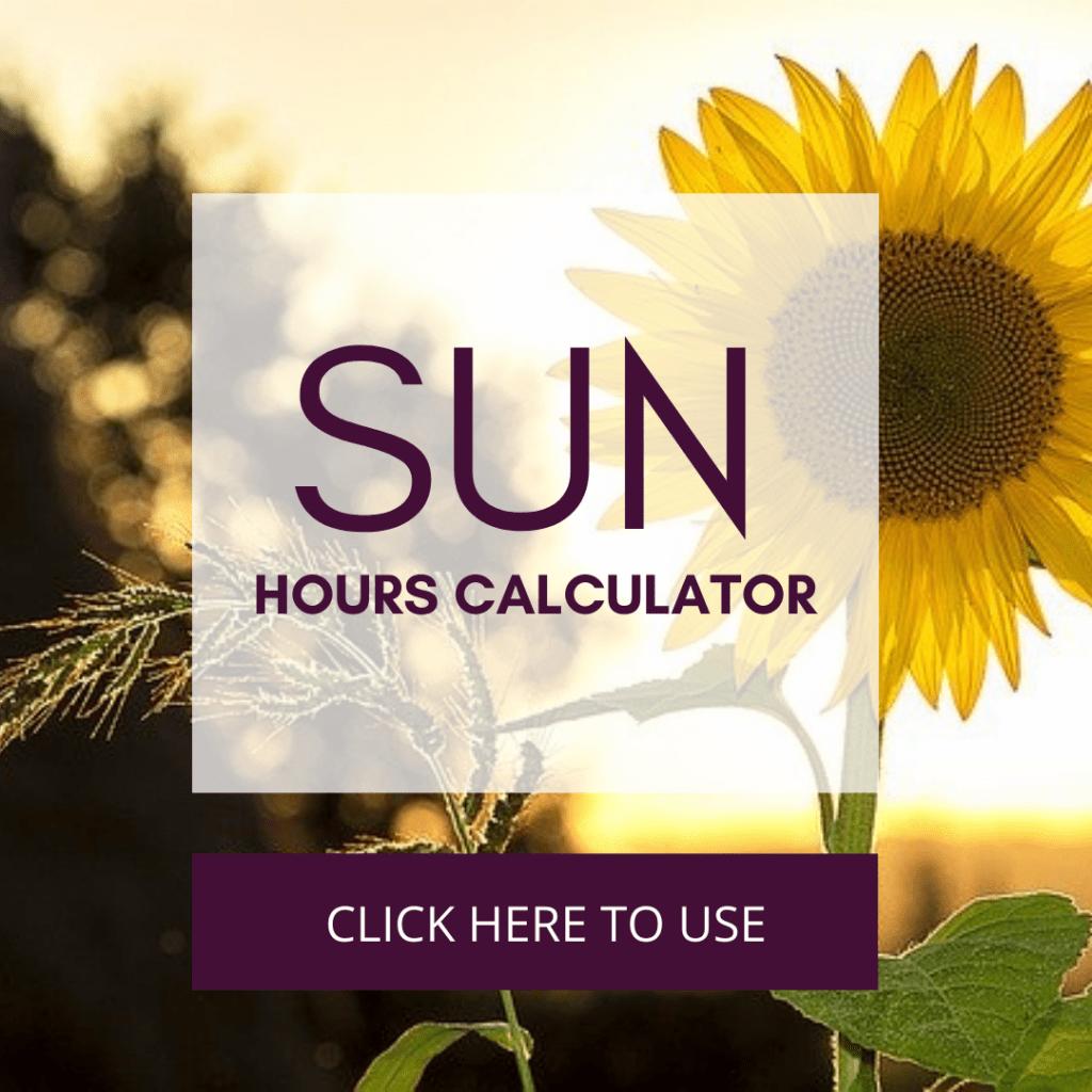Sun Hours Estimator